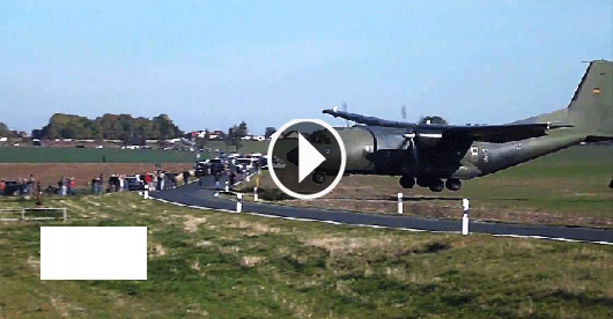 The Aircraft Bounced Onto The Street Before Hitting The Runway.Watch!