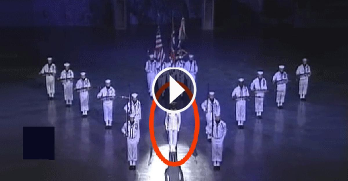 The US Navy Ceremonial Guard Drill Team's  Step On Stage Is Really An Amazing Display Of Grace And Confidence!!...