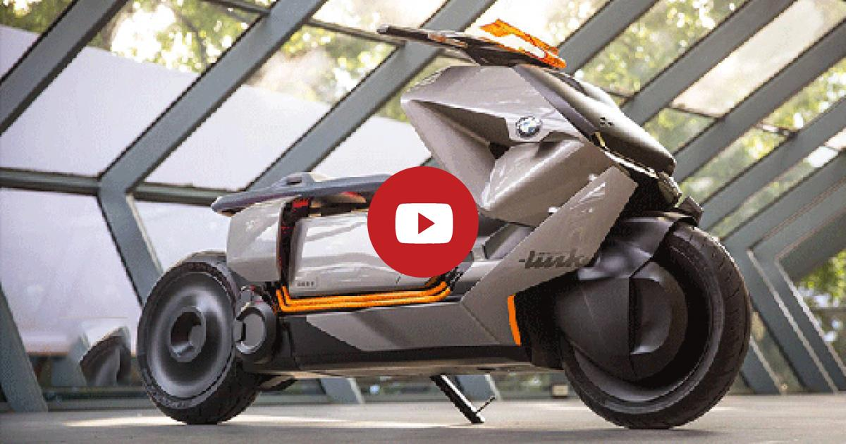 You Can Not Remove Your Eyes Out Of This Extraordinary BMW Motorrad Concept Link Smart E Scooter From Future. Watch!!