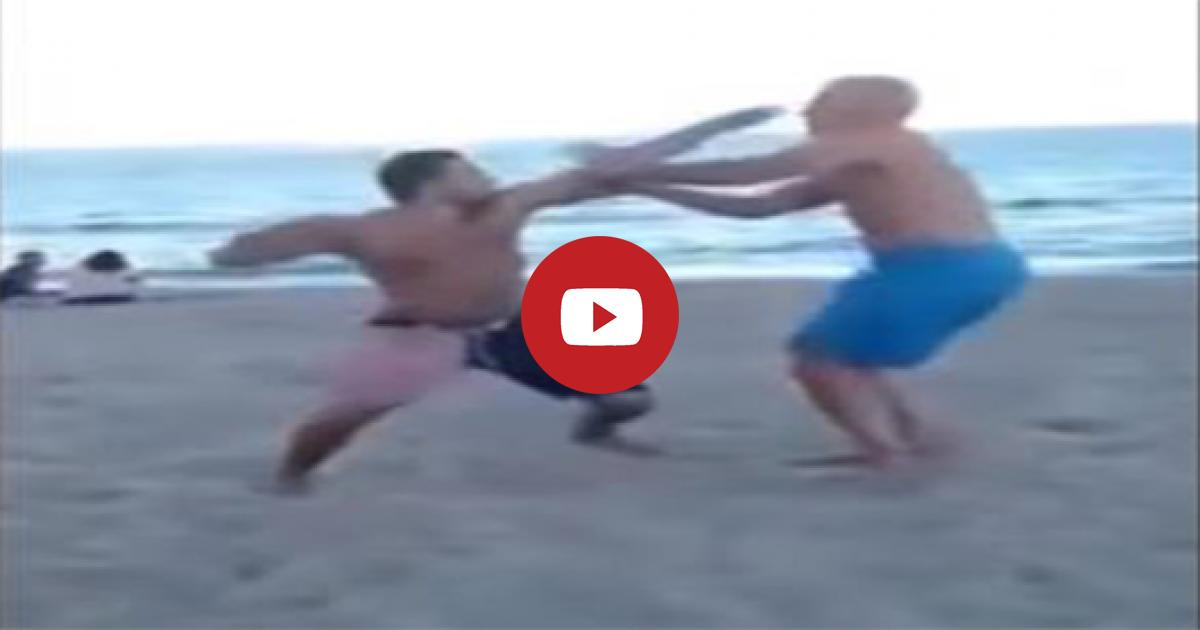 The Drunkard Man Is Punched Hard By Dad And He Falls Down To The Ground Instantly. Please Watch!!