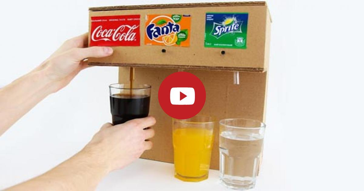 Learn How You Can Make Coca Cola Soda Fountain Machine Using These Three Ingredients At Home.