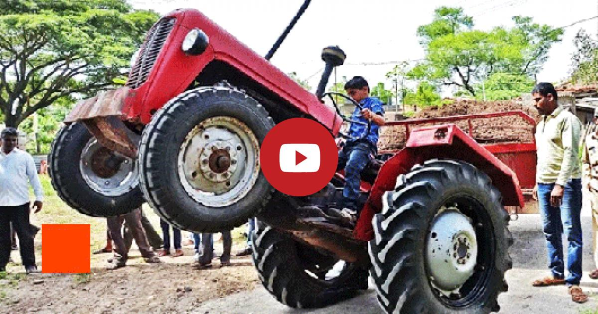 The Kid Becomes A Master Behind The Wheel Of The Family Plough Performing Daredevil Stunts.