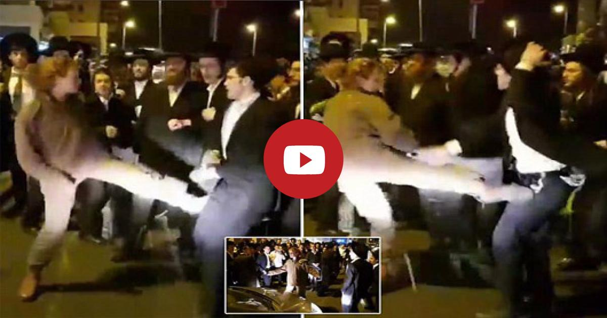 A Fearless Female Soldier Puts Her Martial Arts When She Fights Off Dozens Of Jewish Ultra-Orthodox Anti-Draft Protesters