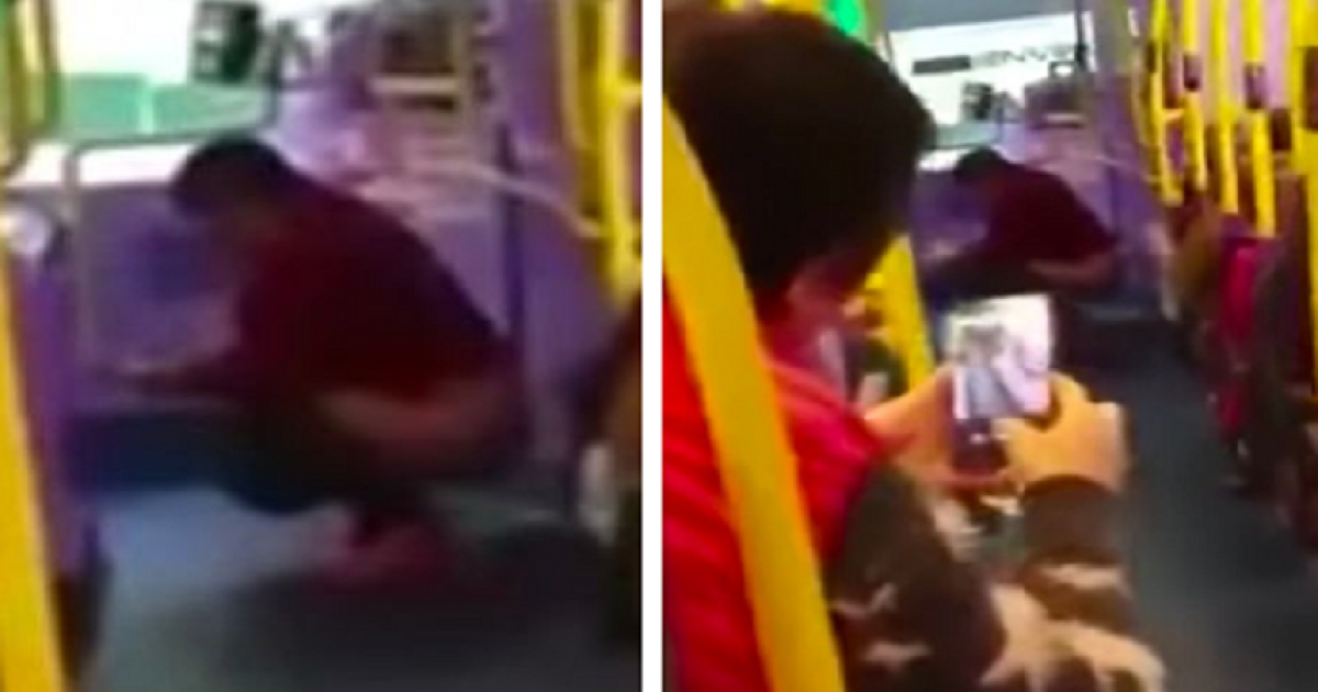 Woman Does Poo On A Bus In Front Of Passengers Because She Had Nowhere Else To Go.