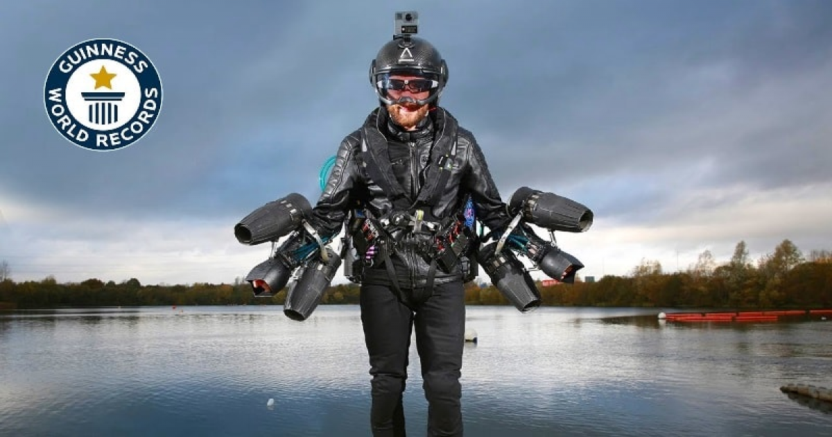 Real-life Iron Man Breaks Guinness World Record For Fastest Speed In A Body-controlled Jet Suit.