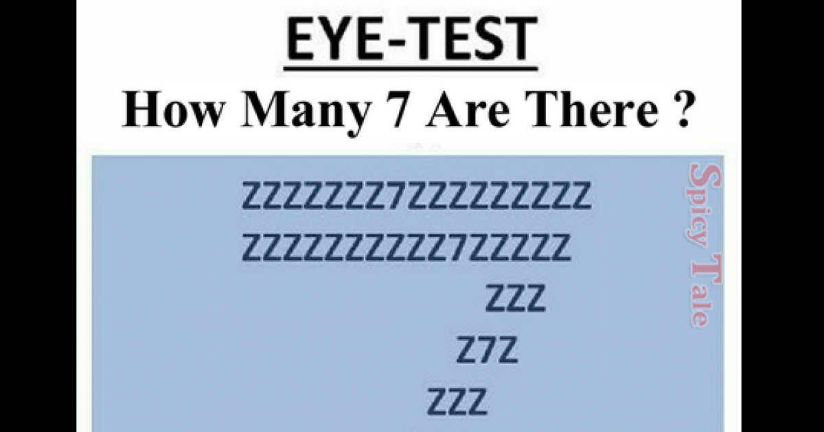 How Many 7s Are There In The Picture? 95% People Give Wrong Answer.