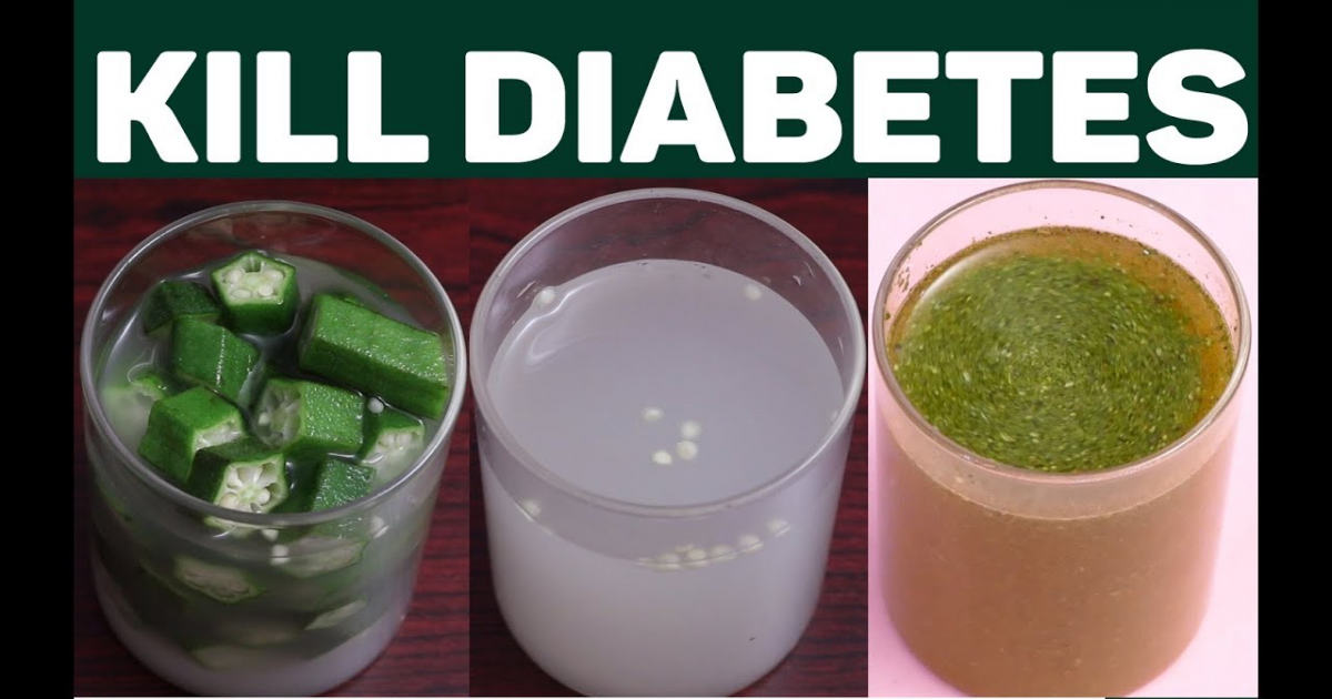 Kill Diabetes And Control Blood Sugar With These 3 Natural Homemade Waters.