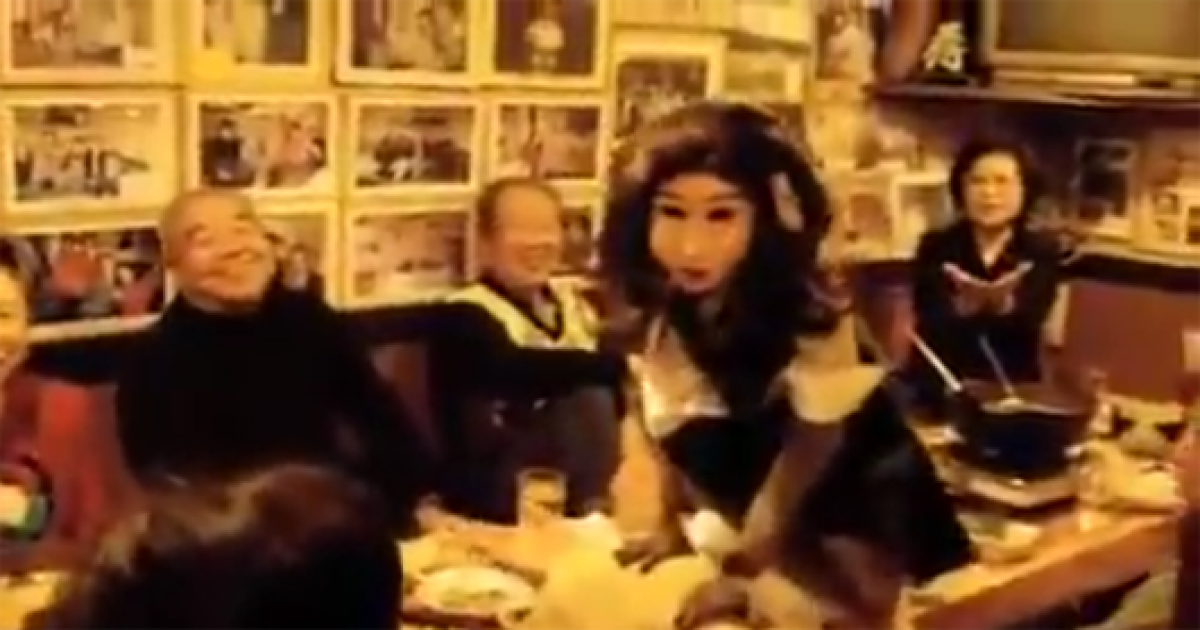 This Japanese Restaurant Has The Sweet Girl Looking Creepy Waiters That Serves Their Customers.