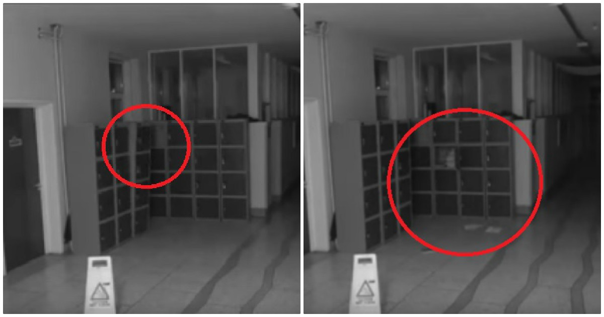 CCTV Footage Captures Ghost Causing Mayhem In Corridor Of A School.