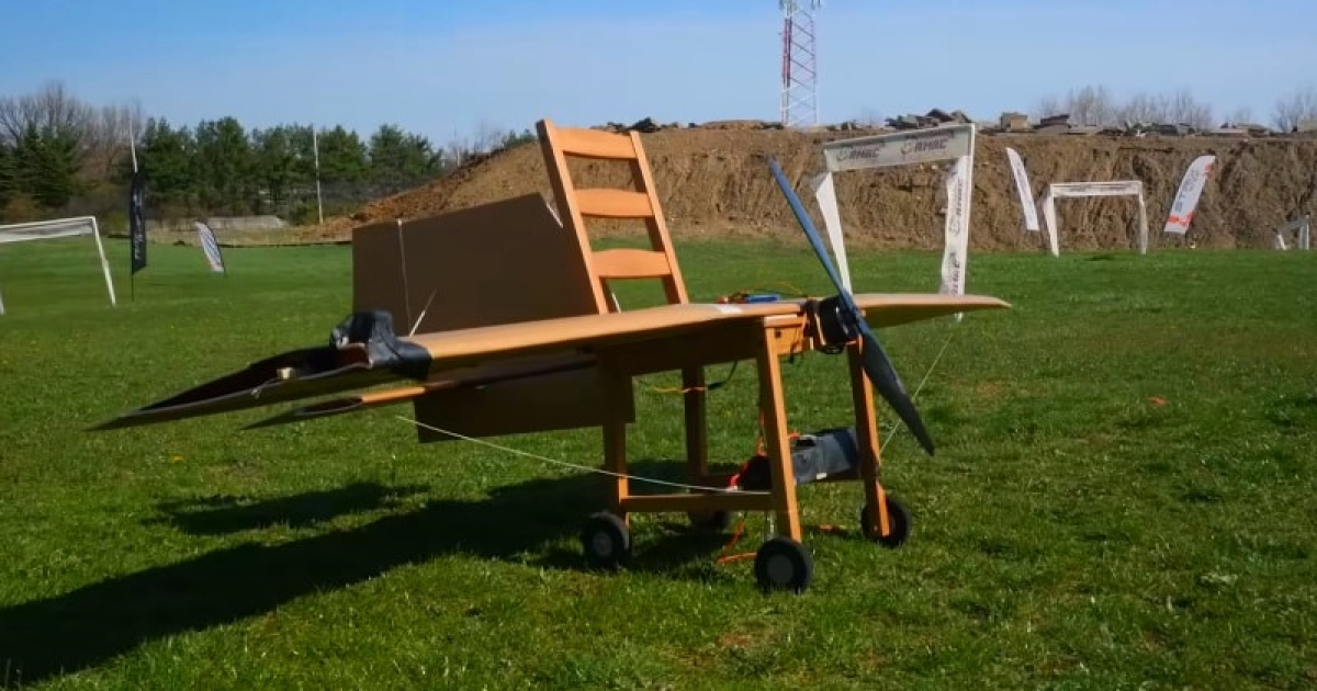 Guys Turned An Ikea Chair Into An RC CHAIRPLANE That Flies  Successfully!
