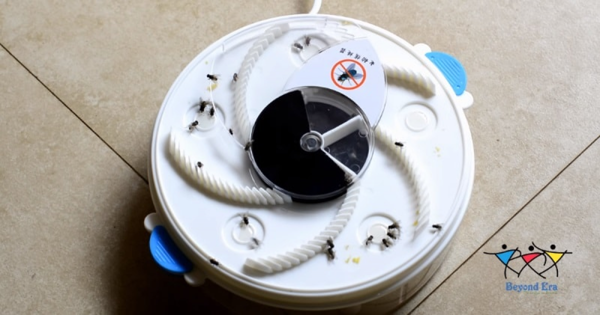 Non-Toxic, No Chemicals Using Electronic Housefly Trap In Action.