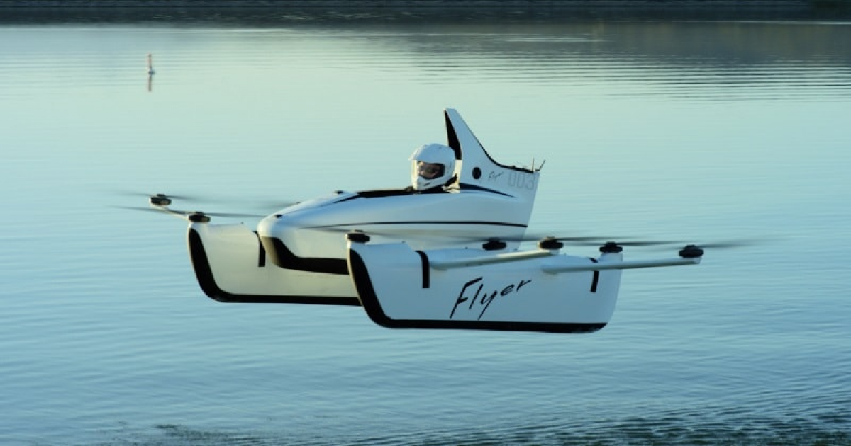 100% Electric Personal Flying Vehicle 'Flyer' Is Coming In The Next World.