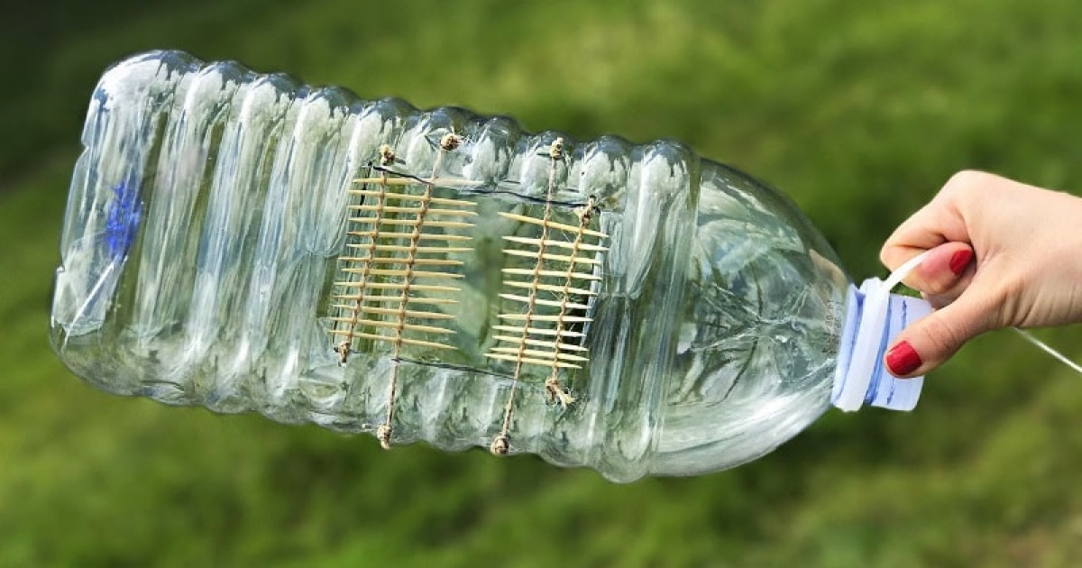 Make A Fish Trap Out Of A Plastic Bottle In A Couple Of Minutes.