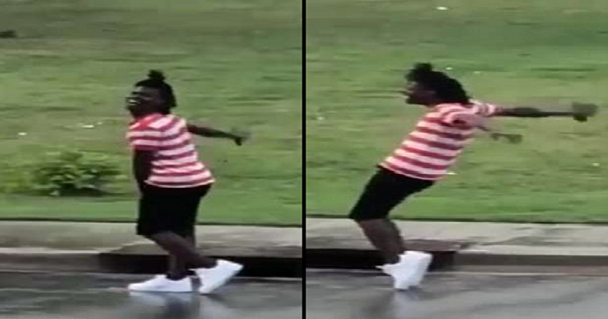 Michael Jackson Fan Busts Out Some Jackson Moonwalk Moves In Georgia Street.