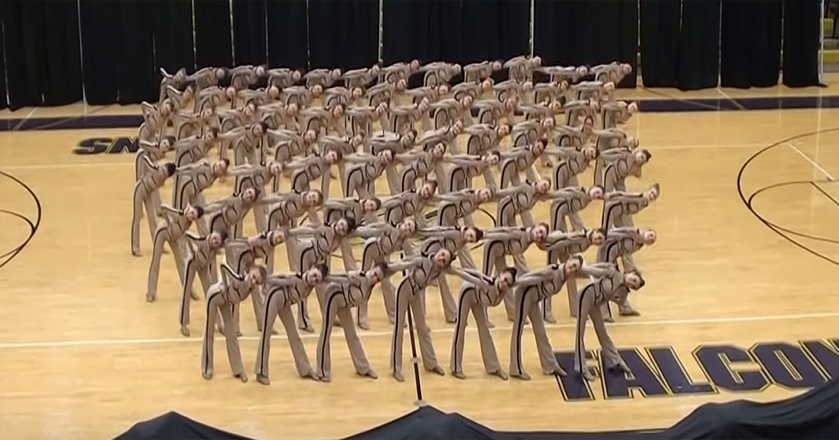 Girls Perform Their Impressive Kick Routine That Stuns The Audience.