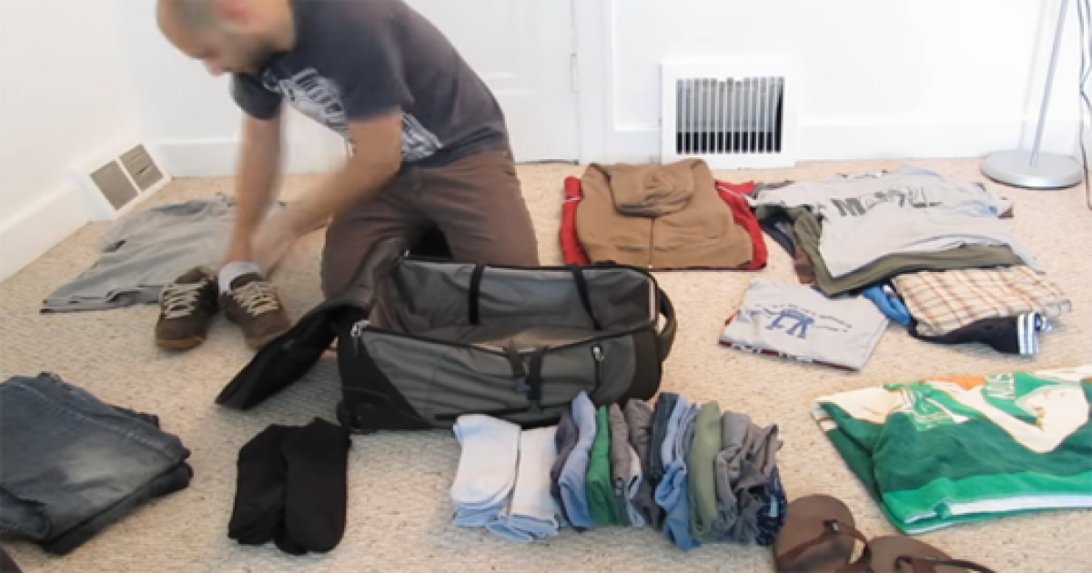 Pack Your Luggage For A Long Trip Like A Pro That This Genius Guy Does.