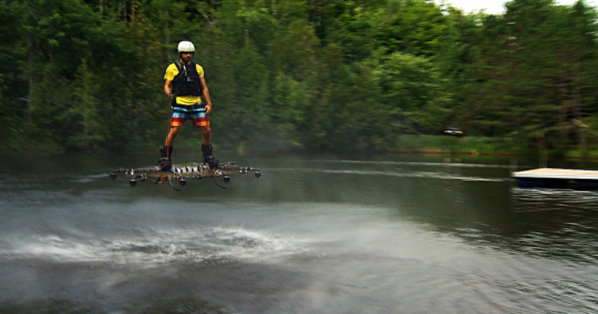 Canadian Inventor Develops Futuristic Hoverboard At Home.