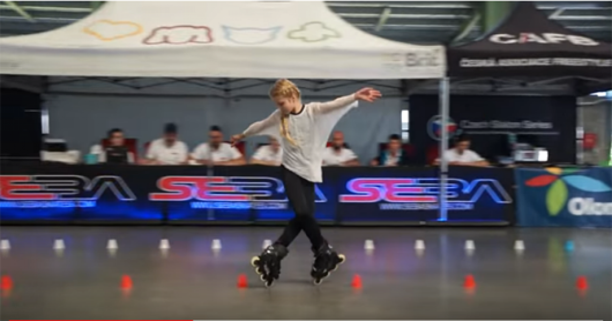 11-year-old Skater Wows Crowd During Roller Skating Competition With Her Skills.
