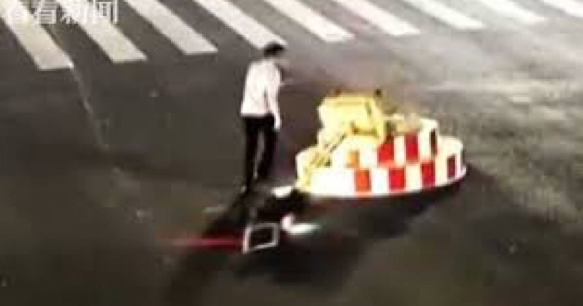 Furious Driver Tears Down Traffic Light Because It Made Him Wait Too Long.