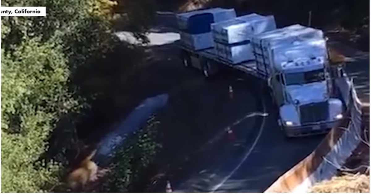 Truck Topples Down High Cliff After Driver Ignores Road Warnings.