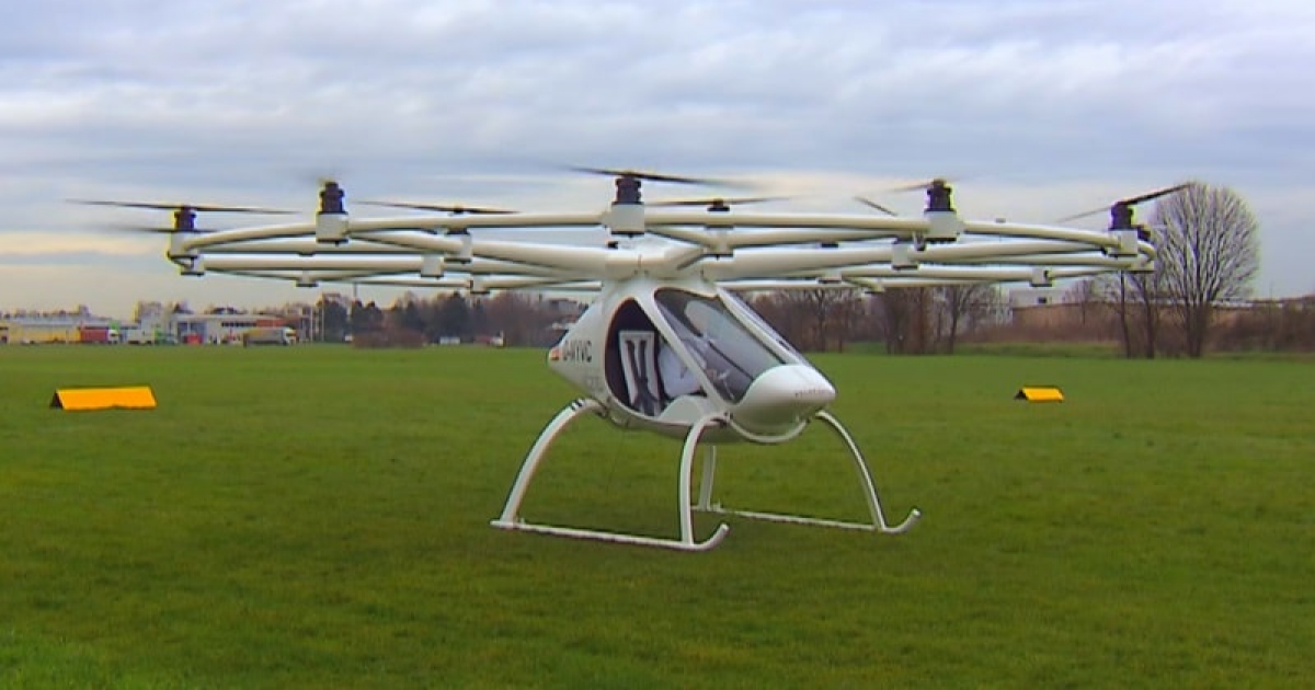 The eVTOL Volocopter VC200 – The Personal Electric Multi-copter/Aircraft.