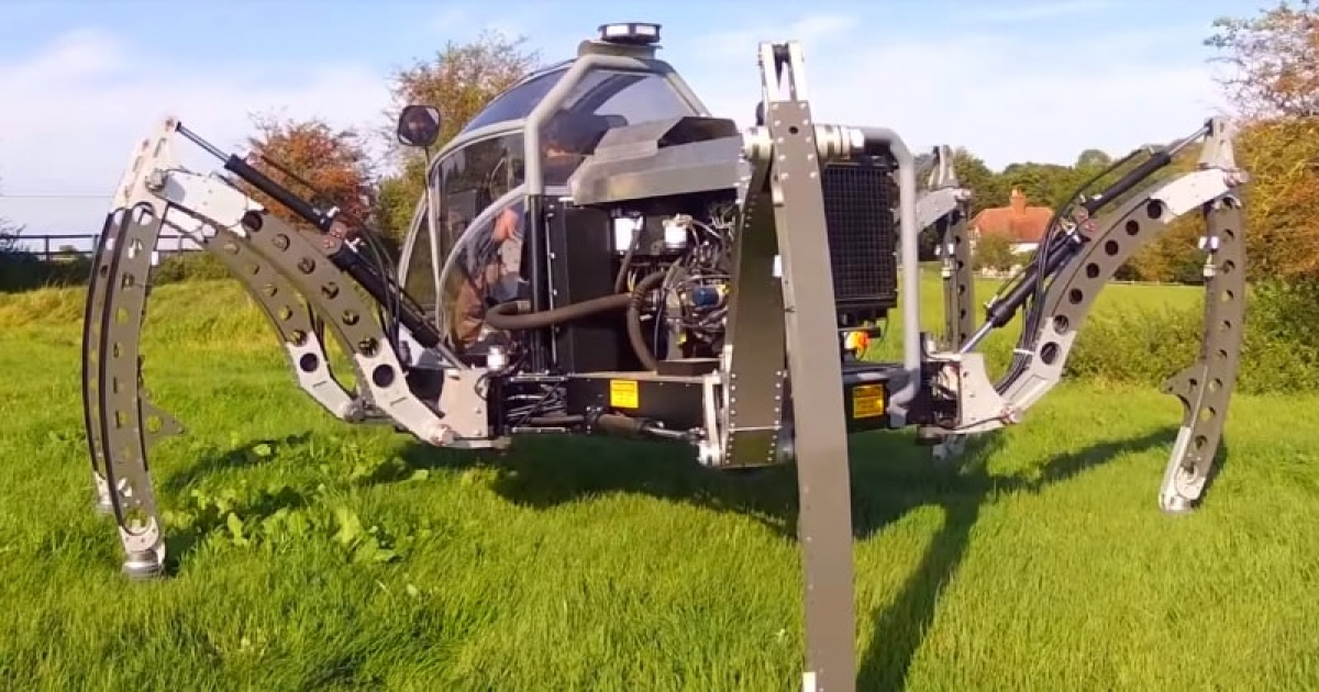 Mantis – A 2.2-litre Turbo Diesel-Powered Hexapod Walking Machine/Robot Is Really Amazing.