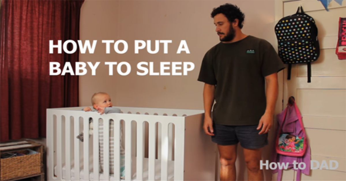 Dad Hilariously Shows Us How To Put A Baby To Sleep.